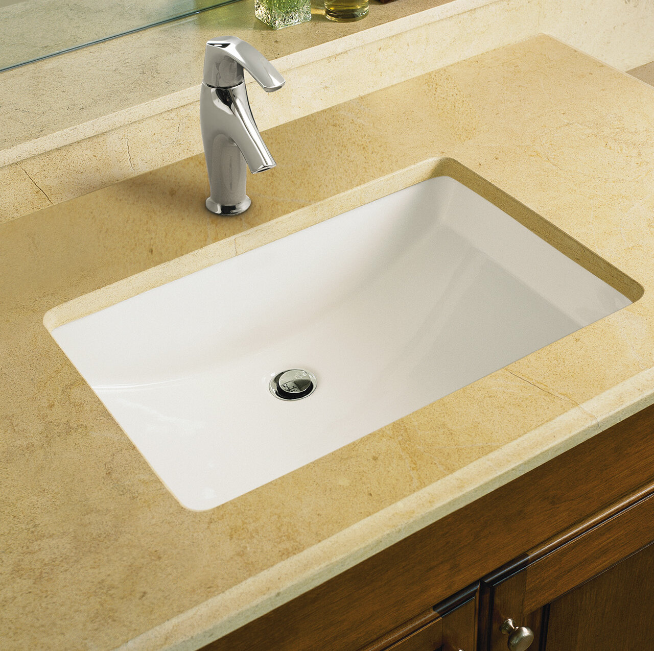 K-2215-0,96,95 Kohler Ladena Ceramic Rectangular Undermount Bathroom Sink with Overflow & Reviews | Wayfair