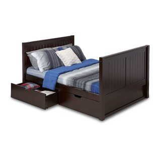 Oakwood Full Platform Bed with Drawers