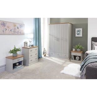 4-tlg. Schlafzimmermöbel-Set Chapin By Brambly Cottage