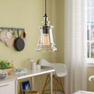 Hand blown glass pendant light wayfair pettey 1 light pendant with clear blown glass mozeypictures Image collections