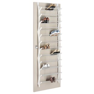 Great Price 36 Pair Over The Door Shoe Rack with Non-Slip Bars ByWhitmor, Inc