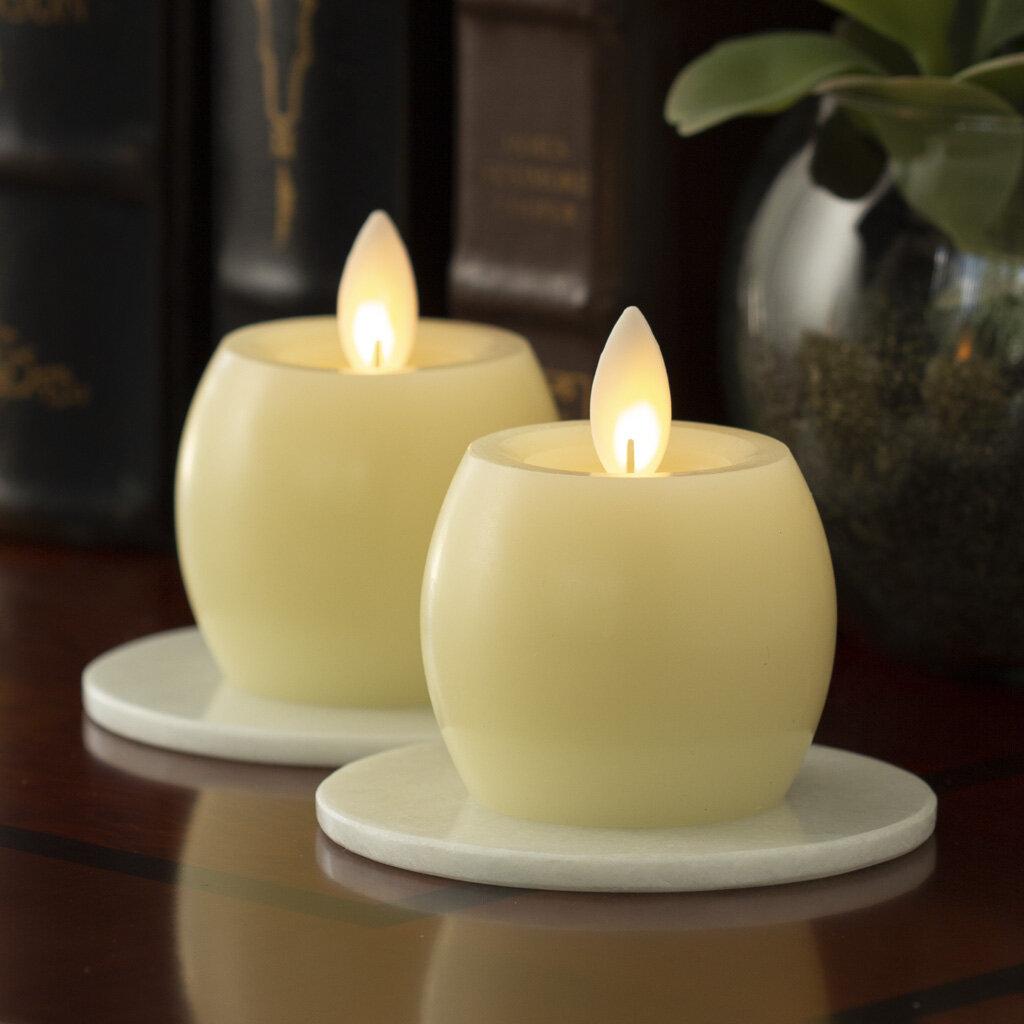 Ebern Designs 2 Piece Iflicker Unscented Flameless Candle Set Reviews Wayfair