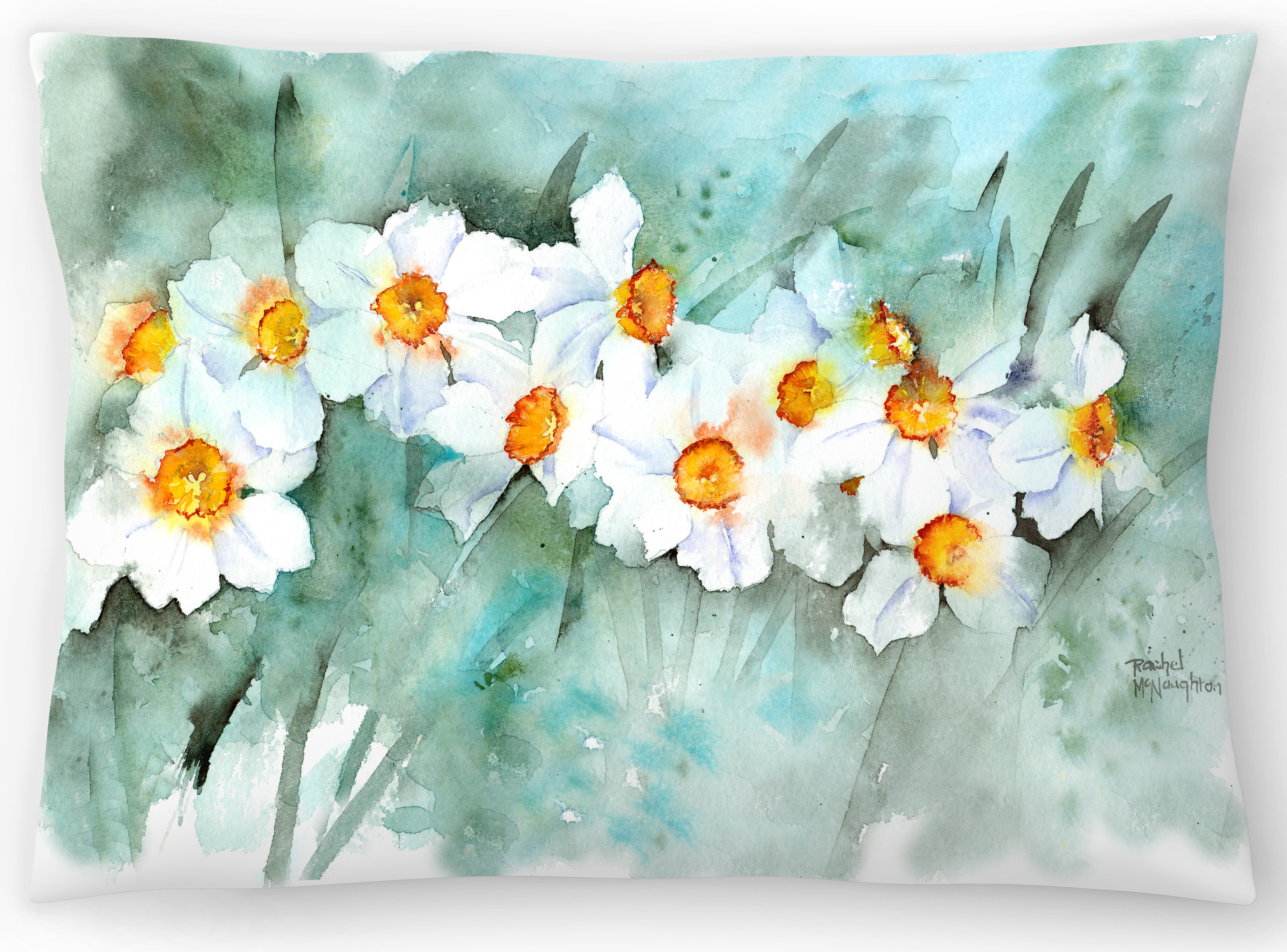 East Urban Home Narcissus In Line Lumbar Pillow Reviews Wayfair