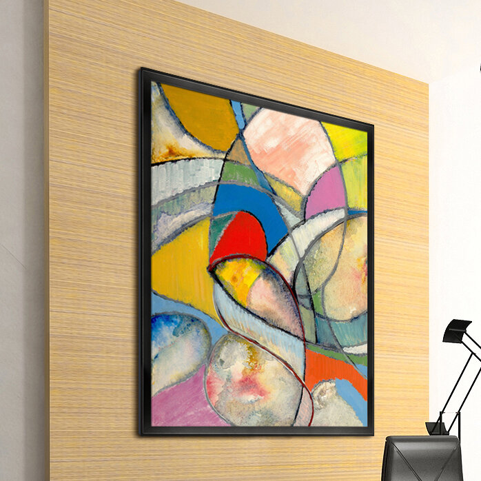 Artisbe An Abstract Painting By Clive Watts Wrapped Canvas Painting Print Allmodern