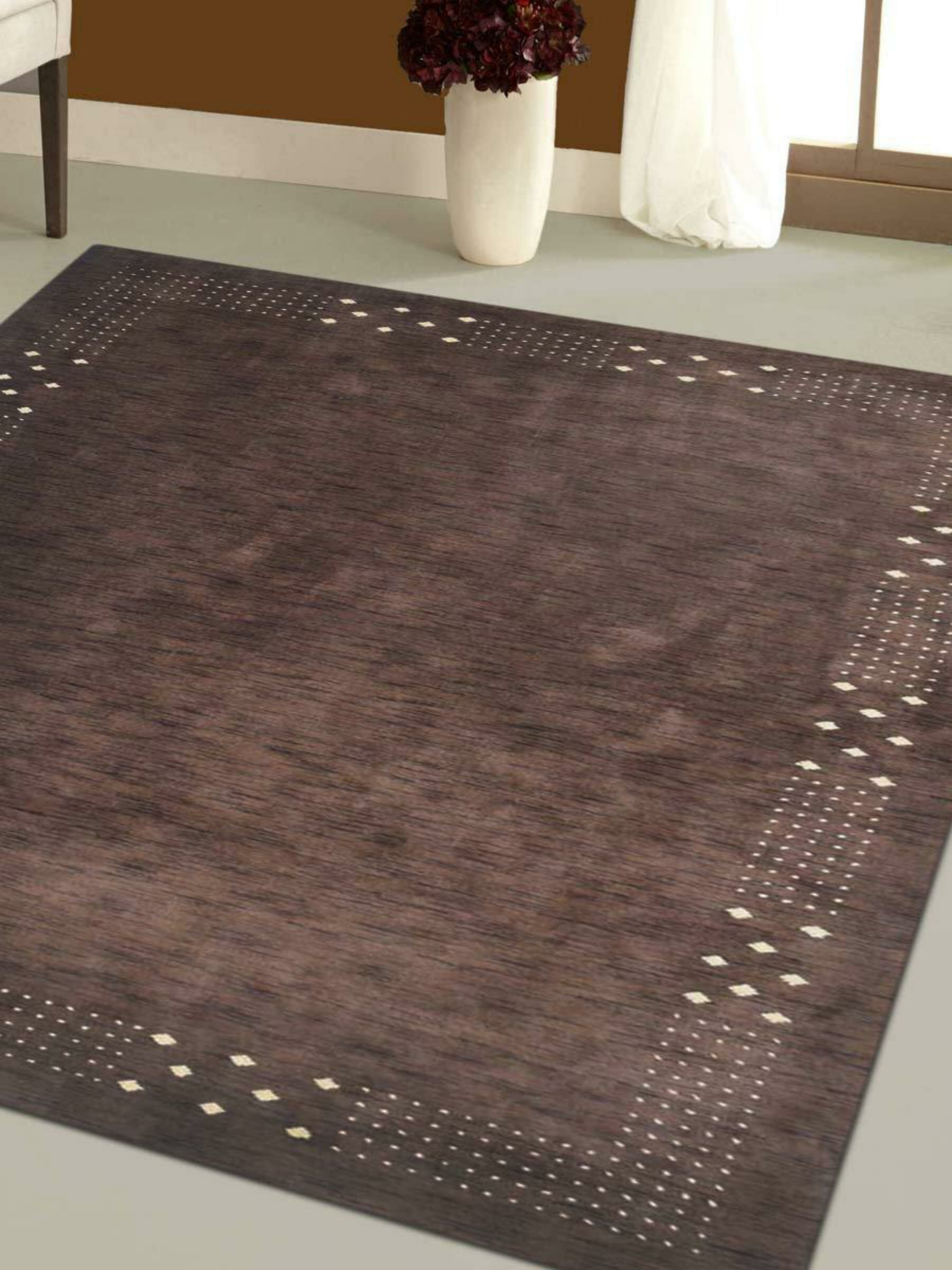 Union Rustic Maggiemae Geometric Hand Knotted Wool Brown Area Rug Wayfair