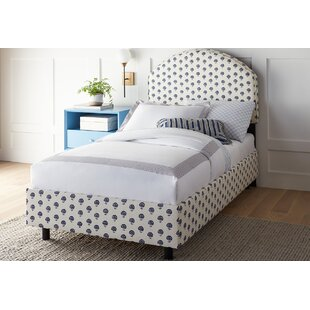 One Allium Way Pheonix Curved Cotton Upholstered Panel Bed