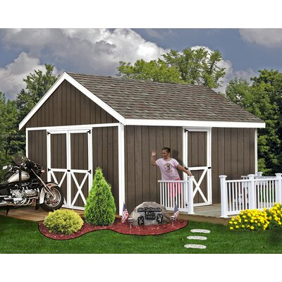 Easton 12 ft. W Solid Wood Storage Shed Best Barns Size: 114 H x 144 W x 240 D