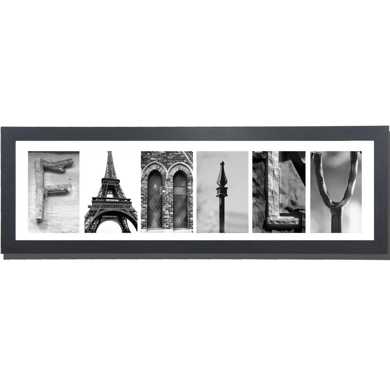 Imagine Letters Inc Family Picture Frame Panoramic Textual Art Print On Paper Reviews Wayfair Ca