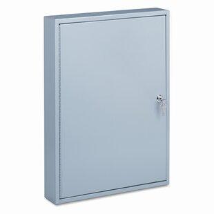 PM Company Locking 100-Key Steel Cabinet, 16-1/2w x 3d x 22-1/2h, Gray