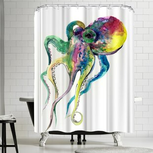 Suren Nersisyan Octopus II Single Shower Curtain