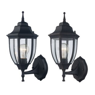 Charlton Home Sellman Outdoor Sconce (Pack of 2) (Set of 2)