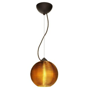 Kristall 1-Light Globe Pendant by Besa Lighting