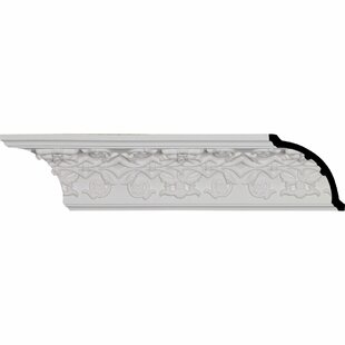 Rose 3 1/2 inch H x 95 7/8 inch W x 3 1/2 inch D Crown Moulding