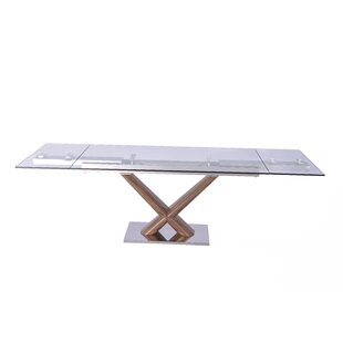 Beechwood Extendable Rectangular Dining Table Orren Ellis