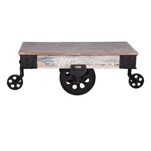 17 Stories Ellingsworth Industrial Cart Coffee Table