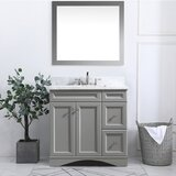 Benefield 36 Single Bathroom Vanity Set with Mirror by Longshore Tides