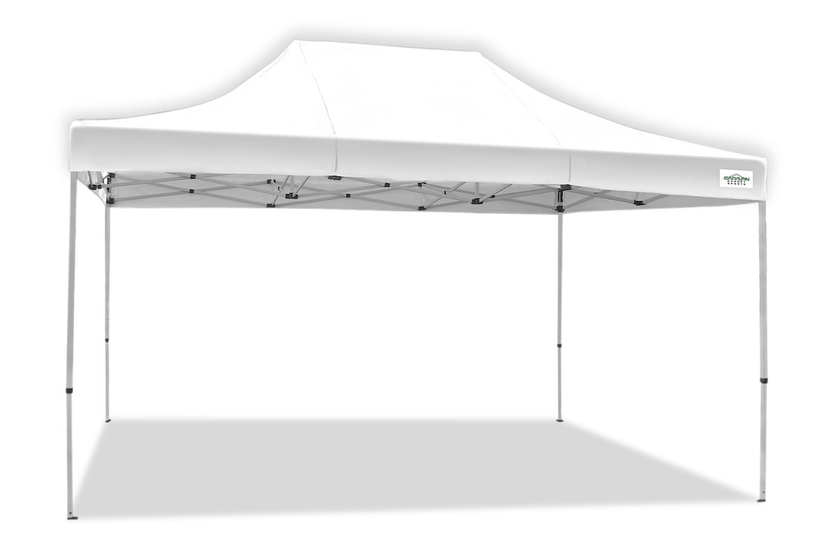 caravancanopy titanshade 15 ft w x 10 ft d steel pop up canopy