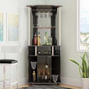 Latitude Run Mullikin Bar With Wine Storage