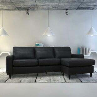 Debbra Leather Reversible Sectional