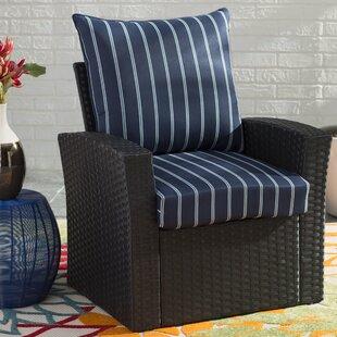 Beau Stripe Deep Seating Indoor/Outdoor Lounge Chair Cushion