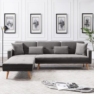 Matterson 1059 Linen Reversible Sleeper Sofa and Chaise by George Oliver