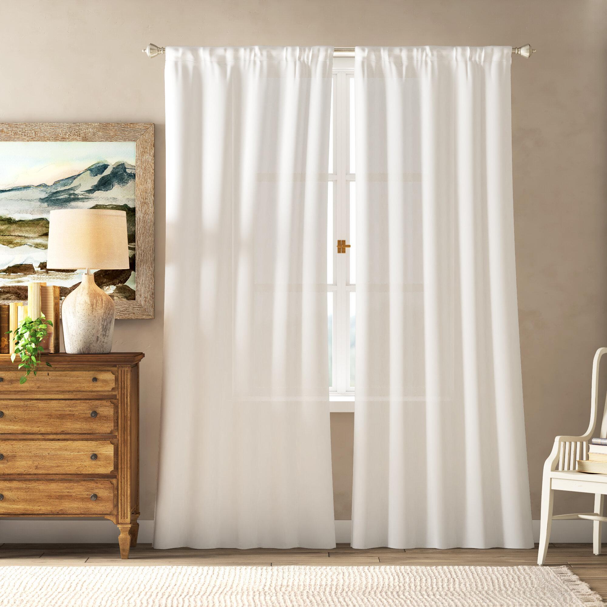 Birdsall Solid Color Room Darkening Thermal Rod Pocket Curtain Panels Reviews Birch Lane