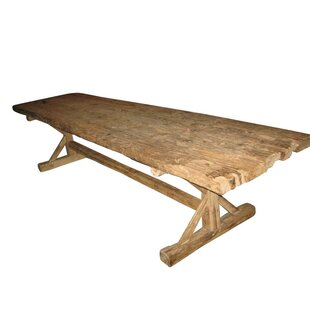 Loon Peak Worle Solid Wood Dining Table