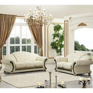 Forrest 2 Piece Leather Living Room Set by House of Hampton
