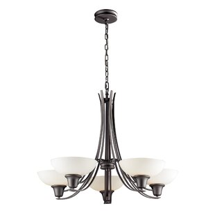 Wherry 5-Light Shaded Chandelier by Winston Porter