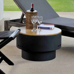 Fire Sense HotSpot Steel Wood Burning Fire Pit Table