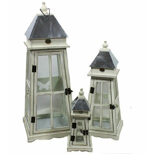 Longshore Tides Wooden Lantern Set (Set of 3)