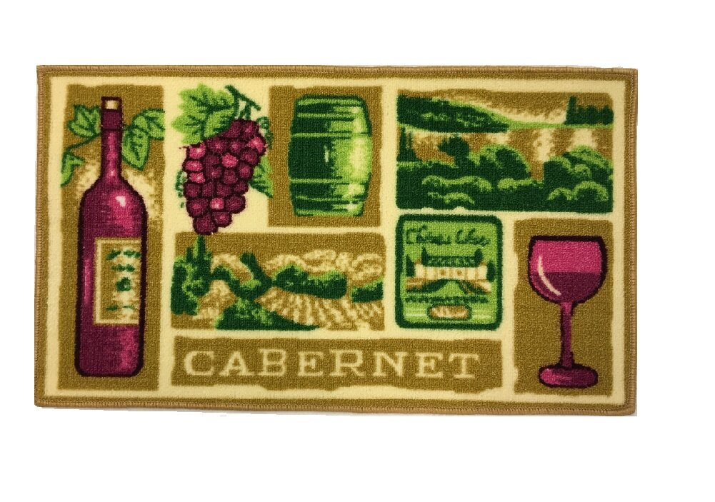 Rieves Cup of Wine Kitchen Mat