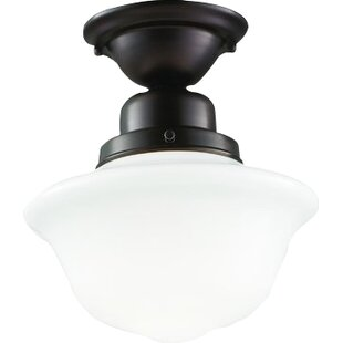 Karen 1-Light Semi Flush Mount by August Grove