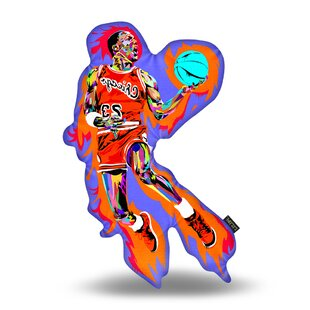 Michael Jordan Throw Pillow ByEast Urban Home