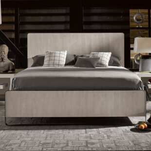 17 Stories Naomi Bronze Metal Panel Bed