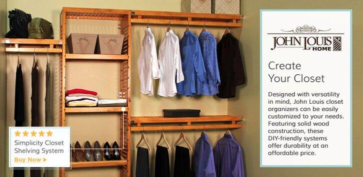 John Louis Inc. Featured Categories. Closet SystemsShelves ...