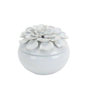 Decorative Ceramic Covered Storage Jar