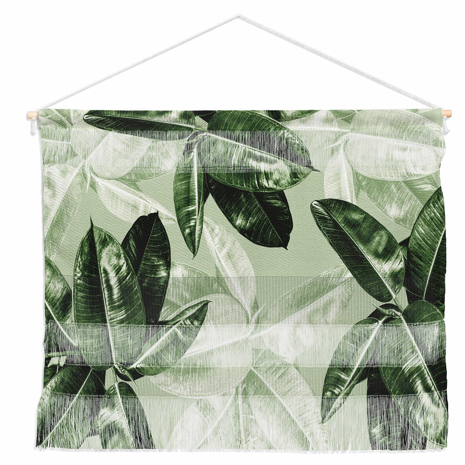 East Urban Home Green Tropical Leaves By Magda Opoka Wall Hanging