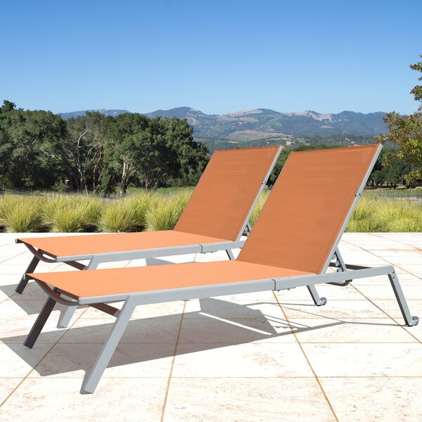 Anchill Adjustable Sling Reclining Chaise Lounge & Reviews ... on Living Accents Sling Folding Chaise id=87594