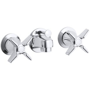 Kohler Triton Shelf-Back Commercial Bathroom Sink Faucet with Pop-Up Drain and Cross Handles
