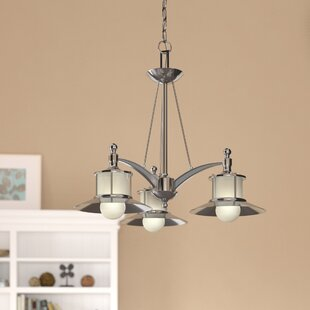 Beachcrest Home Longview 3-Light Shaded Chandelier