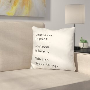 Bedard Words of Encouragement Throw Pillow