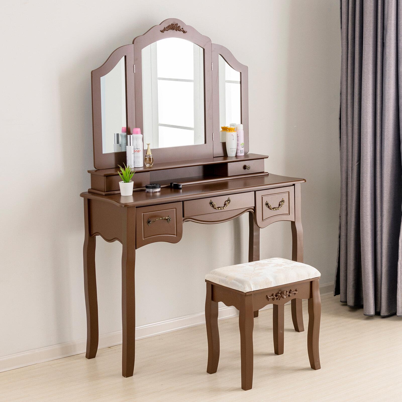 hanes makeup vanity set with mirror