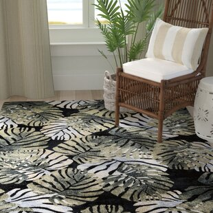 Compare & Buy Skeen Tropical Black Area Rug By Bay Isle Home