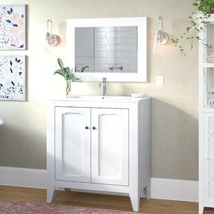 Shalon Classic Vintage 32 Single Bathroom Vanity Set with Mirror ByMistana