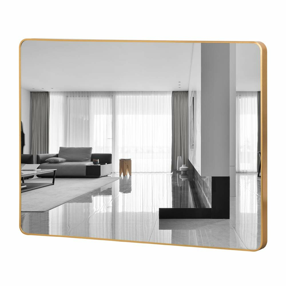 Willa Arlo Interiors Jordon Rectangular Round Corner Bathroom Vanity Mirror Reviews Wayfair