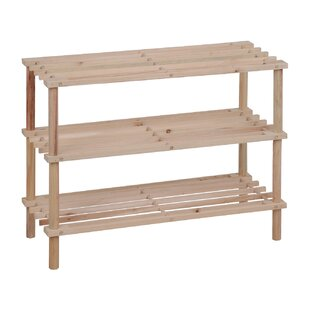 Find for Wood 3-Tier 9 Pair Shoe Rack By Rebrilliant