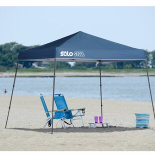 Solo Steel 10 Ft. W x 10 Ft. D Metal Pop-Up Canopy by QuikShade