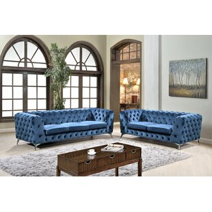 Affordable Khan 2 Piece Chesterfield Living Room Set by Mercer41 Reviews (2019) & Buyer's Guide