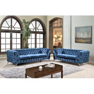 Weiss Chesterfield 2 Piece Living Room Set